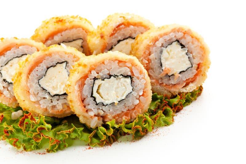 Frittierte Tuna Philadelphia Roll lizenzfreie stockbilder
