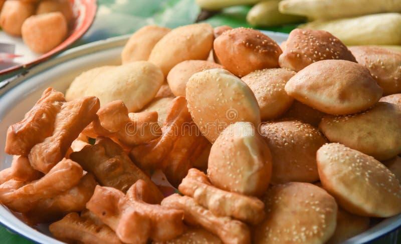 Frittierter Teigstock oder thailändisches genanntes Patongko stockbild
