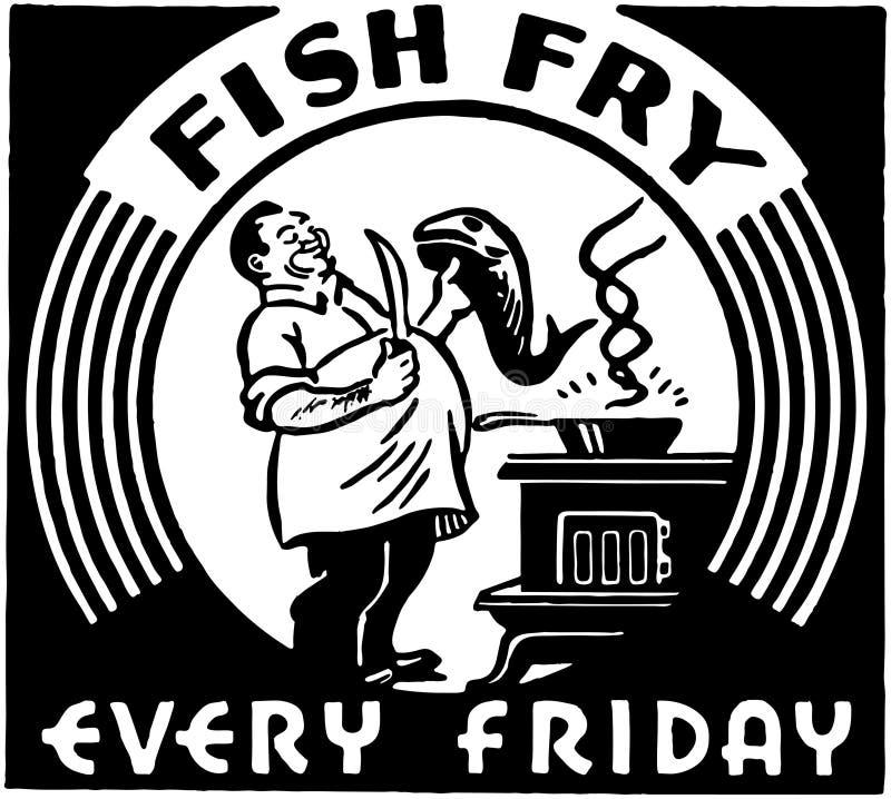 Frittura di pesce royalty illustrazione gratis