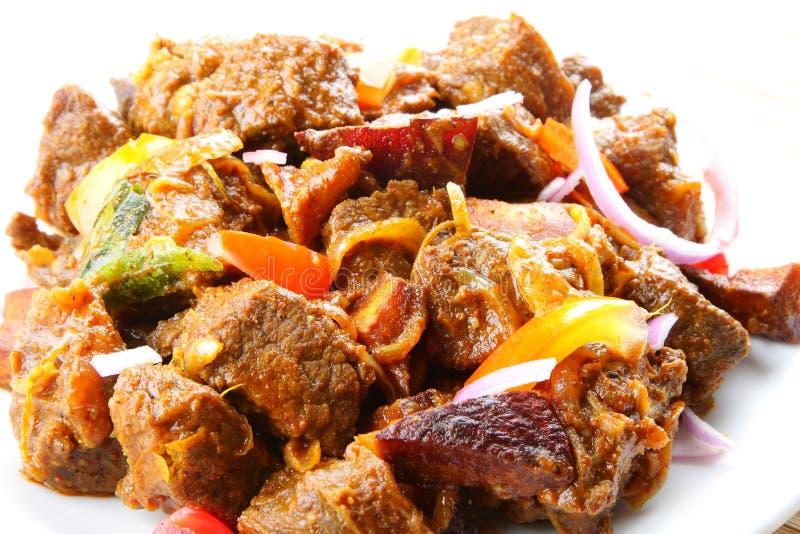 Frittura indiana della carne. fotografia stock libera da diritti