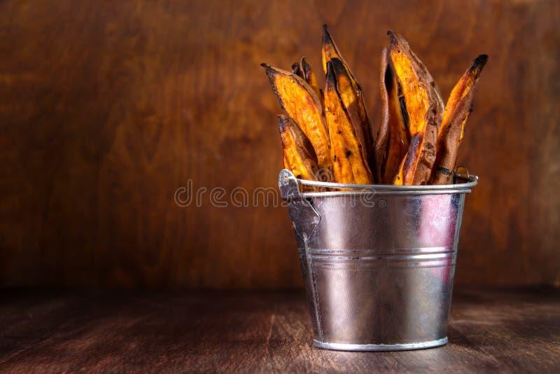 Fritture casalinghe della patata dolce fotografia stock libera da diritti
