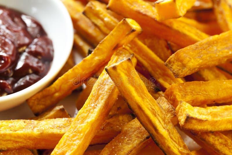 Fritture della patata dolce fotografie stock libere da diritti