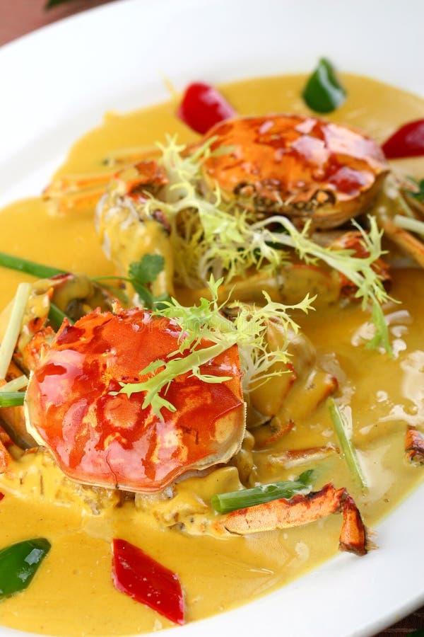 friture asiatique de nourriture de crabe photographie stock libre de droits