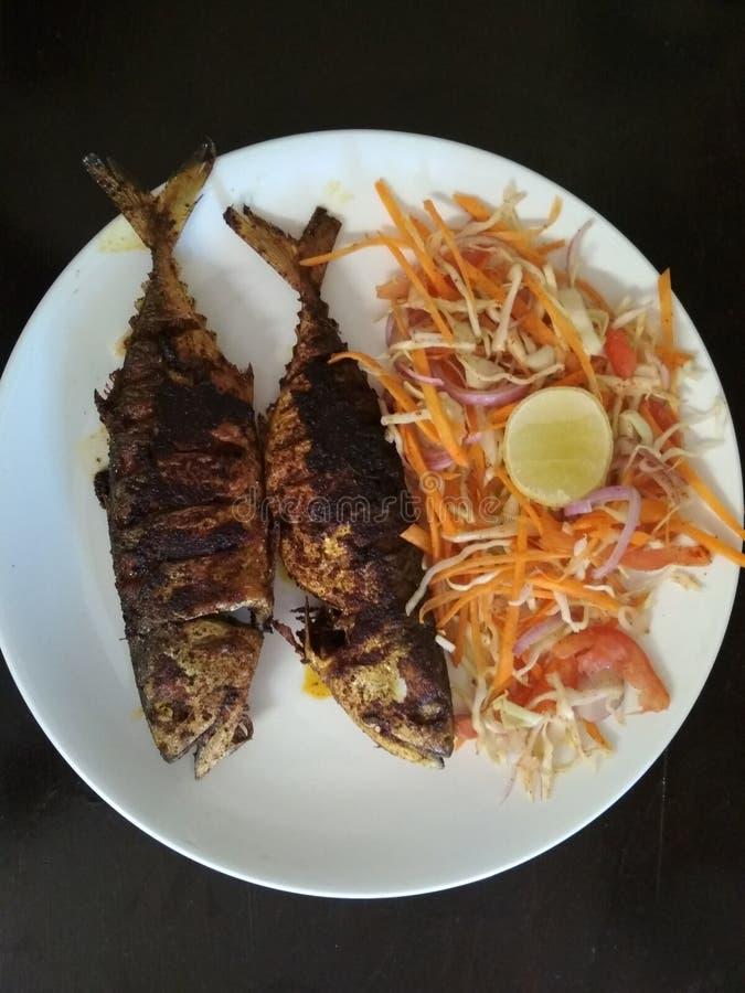 Friture de poissons de Bangdra Style de Goan - délicieux photos stock