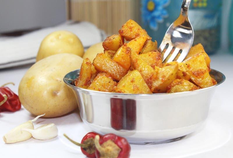 Friture de pomme de terre images stock