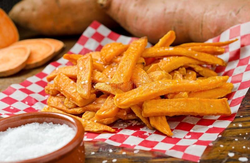 Fritures de patate douce photo stock