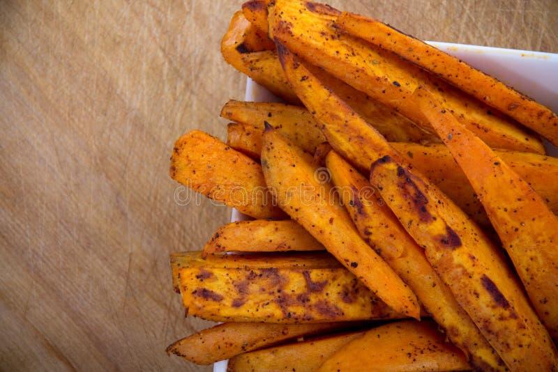 Fritures de patate douce photo libre de droits