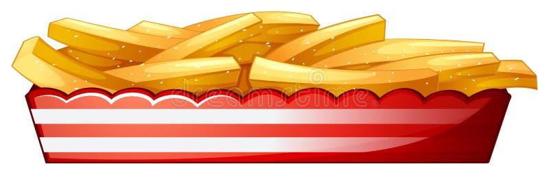Fritures de pomme de terre illustration libre de droits