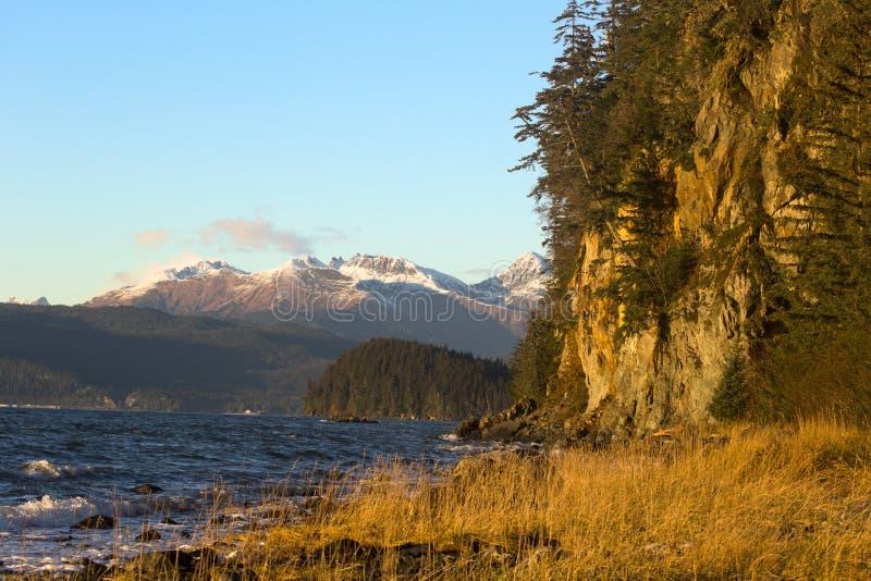 Fritz Cove su Douglas Island a novembre fotografia stock