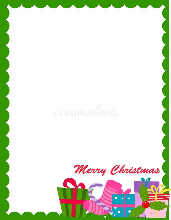 Frmae van Kerstmis stock illustratie