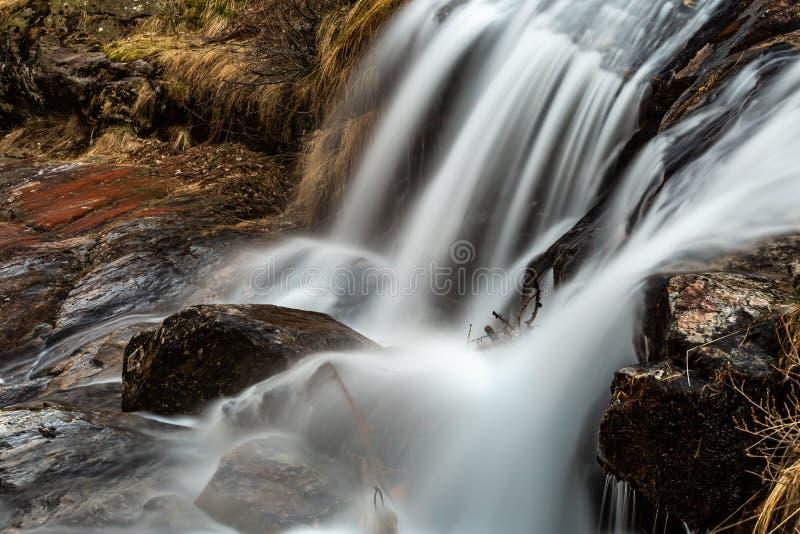Froda waterfalls in Verzasca valley royalty free stock photography