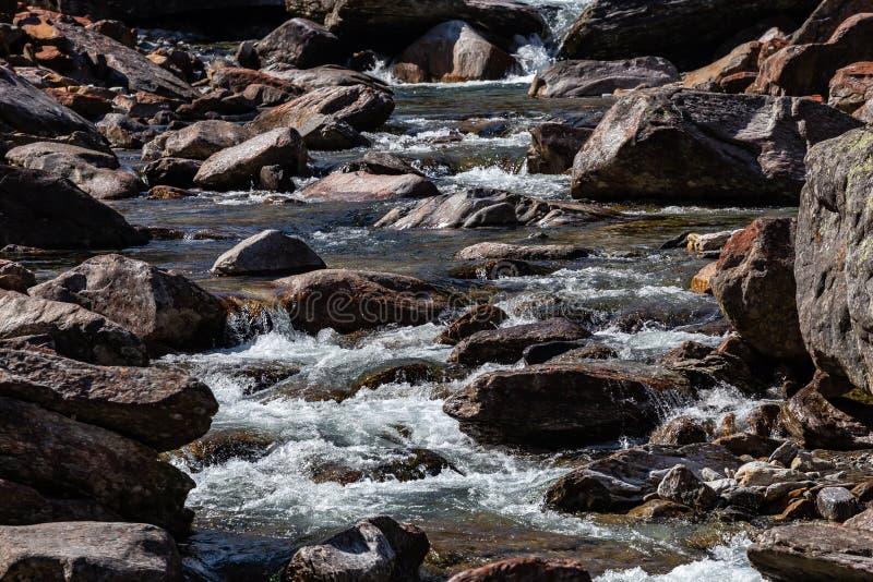 Froda waterfalls in Verzasca valley royalty free stock image