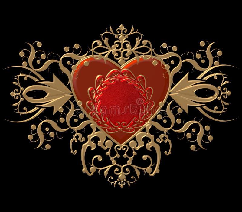frodasr hjärta vektor illustrationer
