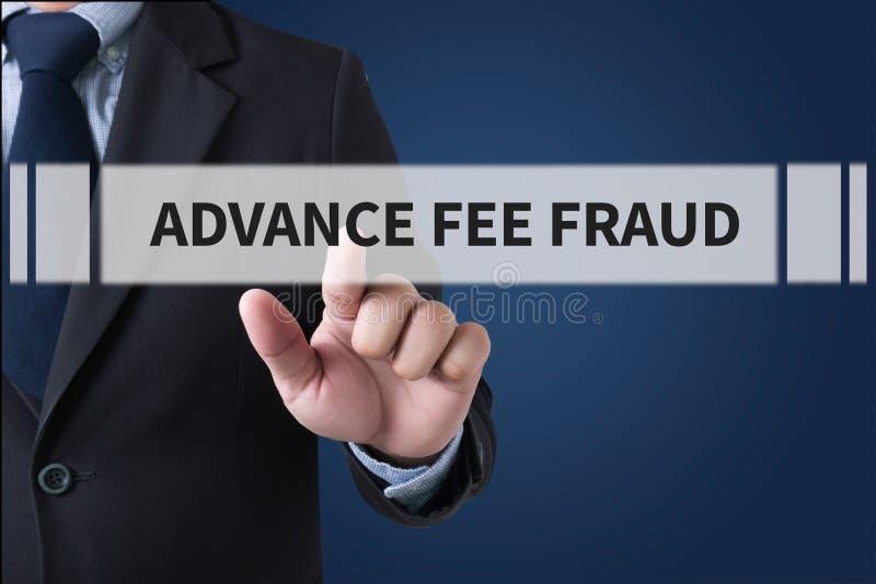 FRODE DI ADVANCE-FEE immagini stock
