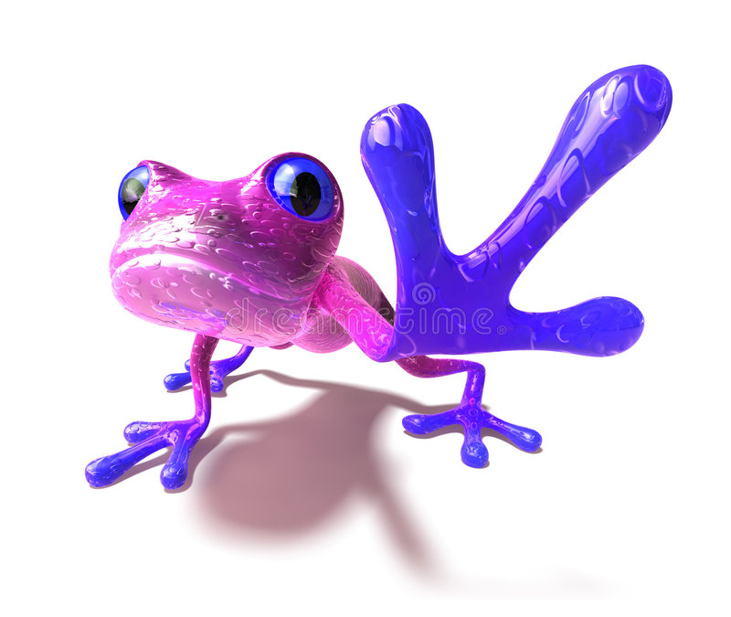 Frog. Cute little frog looking at the camera, 3D generated