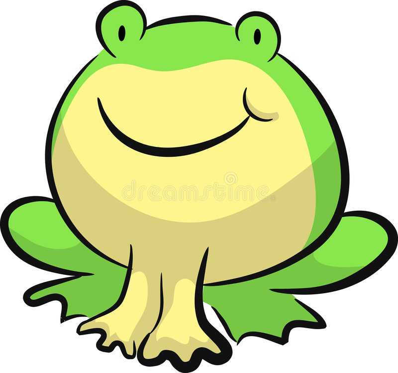 Frog. A frog looking at you , made a t shirt of this stock illustration