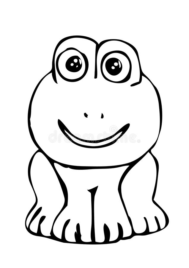 Download Frog As Black And White Picture To Color Stock Vector - Illustration: 11688257