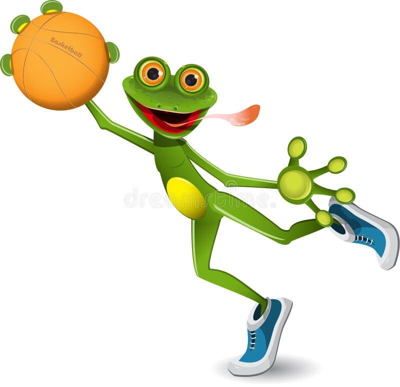 Download Frog basketball stock vector. Image of yellow, sportsman - 32315038