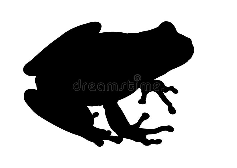 Frog Black silhouette vector illustration