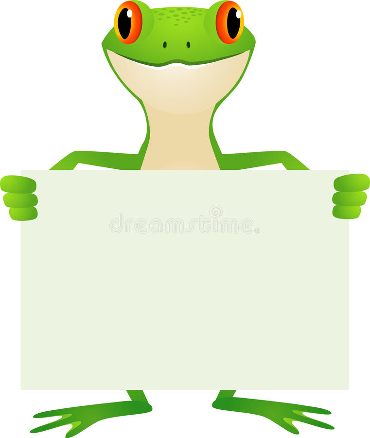 Download Frog with blank sign stock vector. Image of aqua, amazonian - 20783444