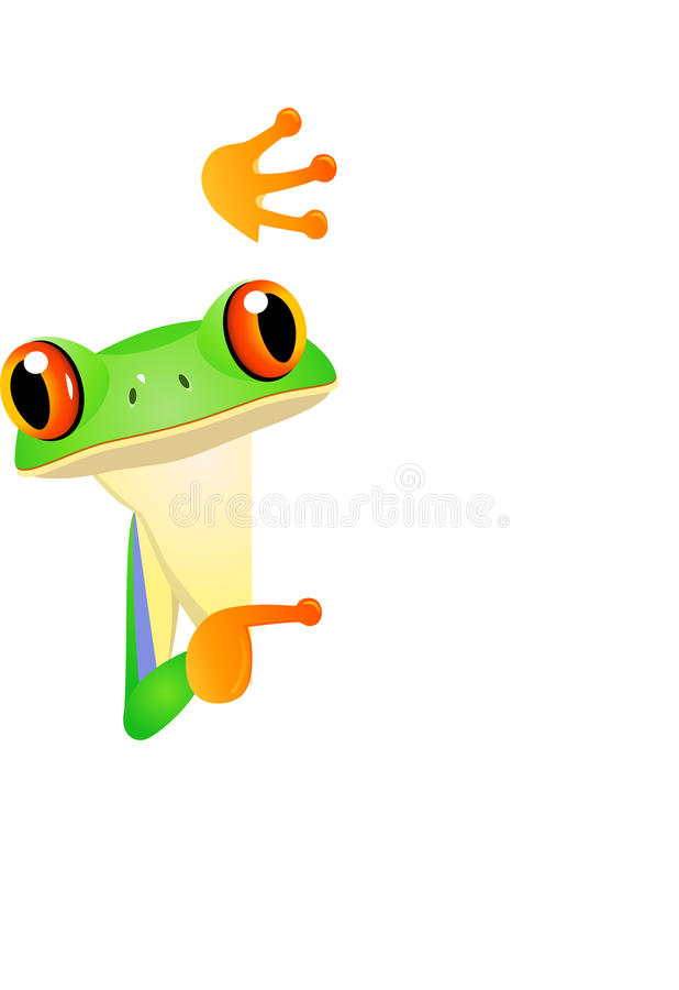 Download Frog with blank sign stock vector. Image of creativity - 22781897