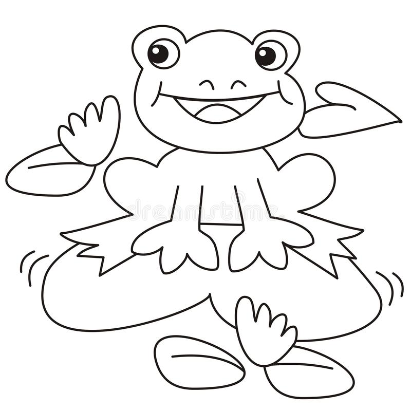 Frog-coloring Stock Photo