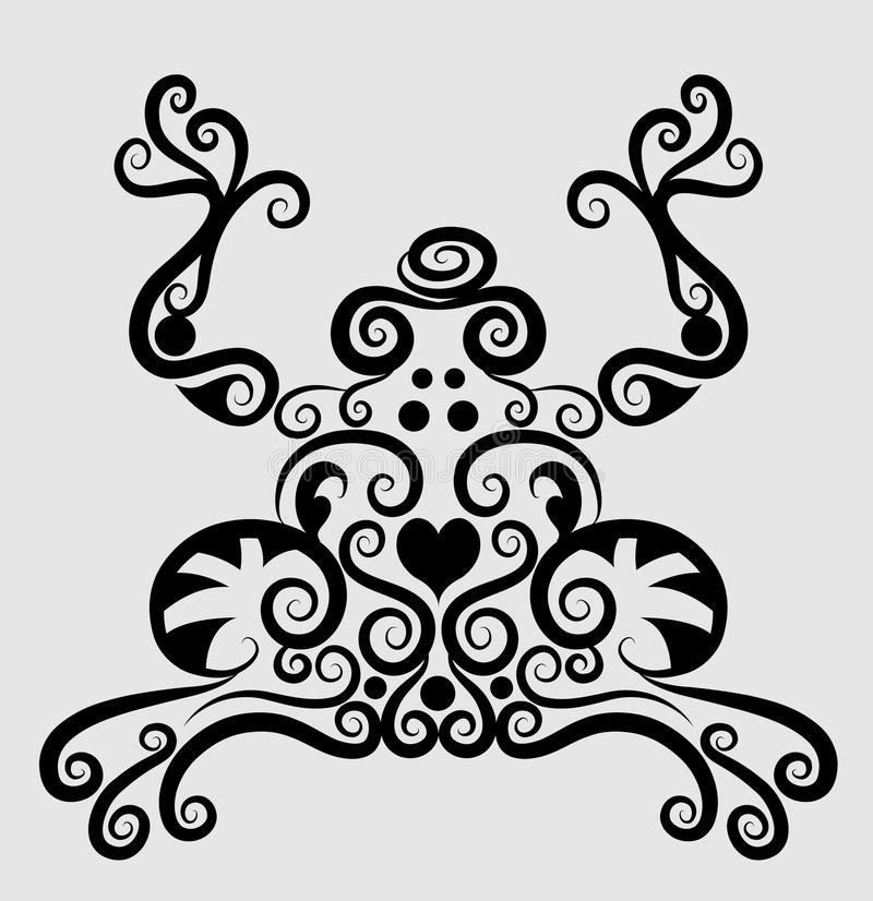 Download Frog decorative ornament stock vector. Image of antique - 24750012
