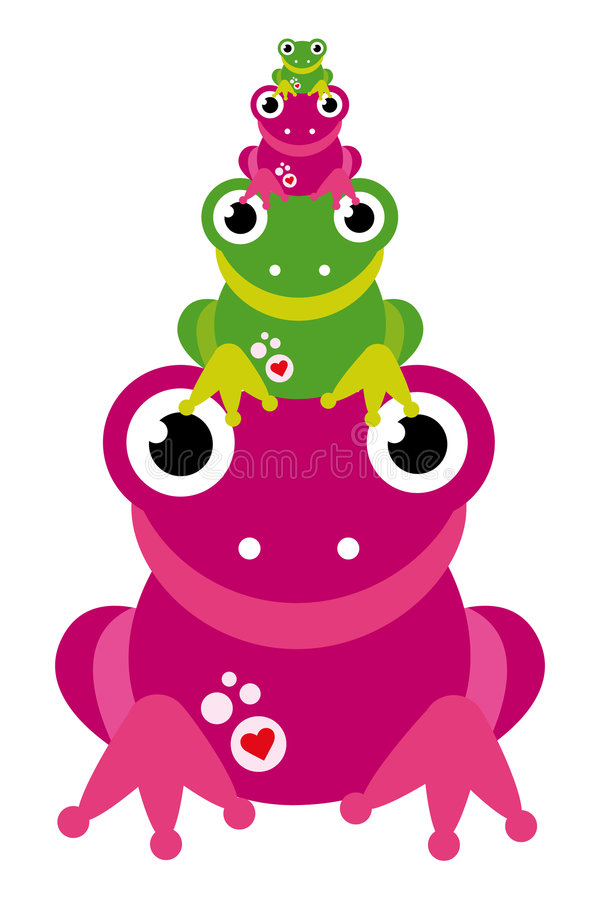 Frog family royalty free stock photos
