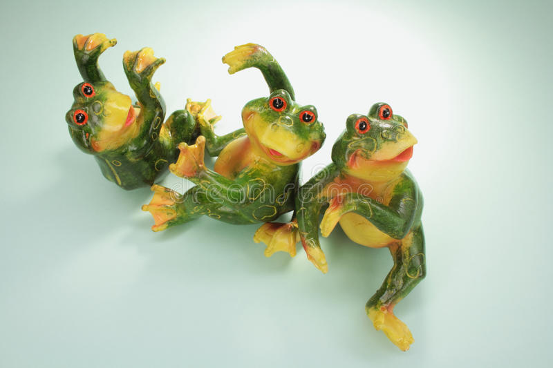 Frog Figurines Stock Images