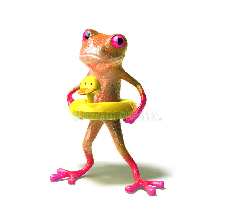 Frog Going Swimming Stock Images