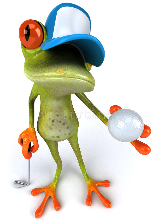 Download Frog and golf stock illustration. Image of amazonian - 14861599