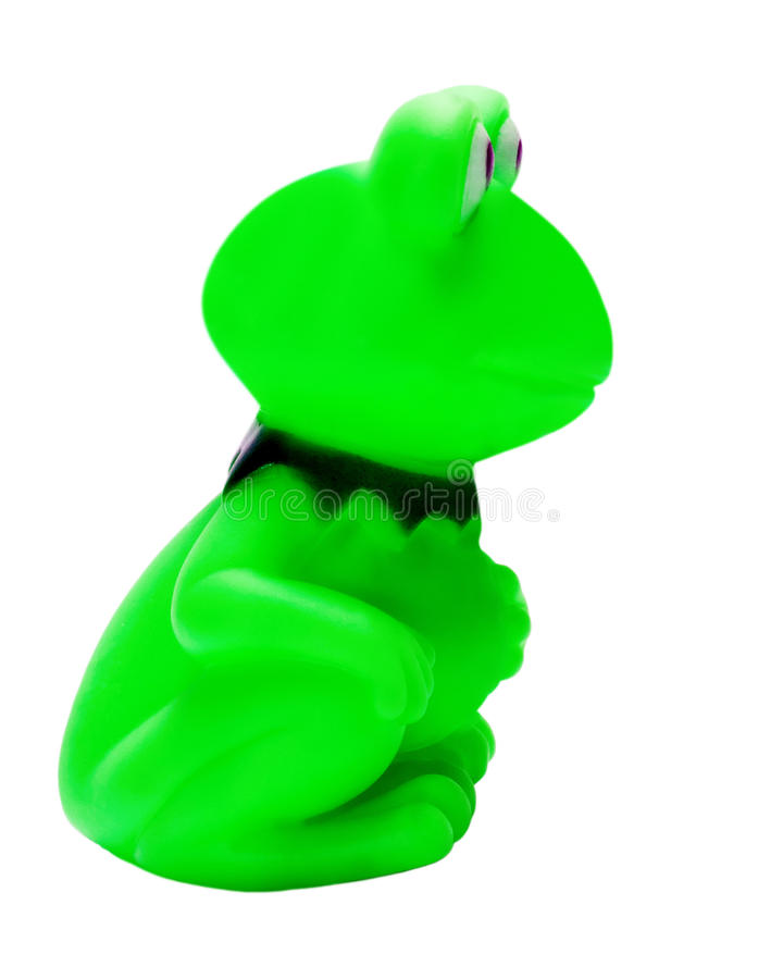 Frog Green Type With Side Stock Photo