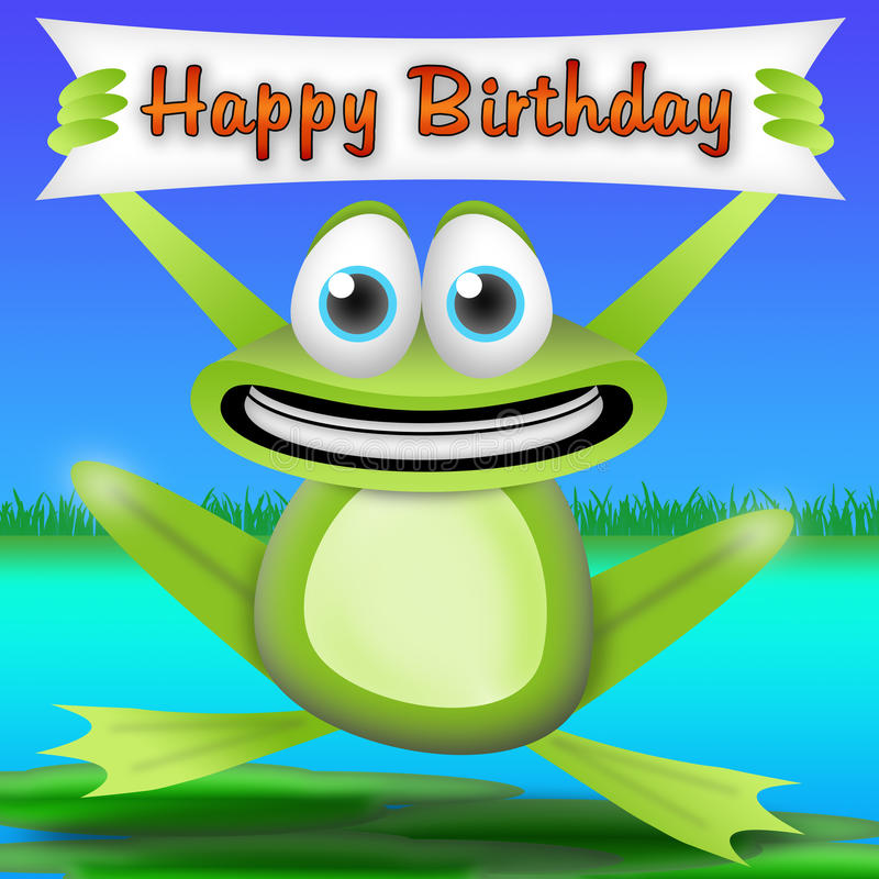 Frog Happy Birthday Stock Photos