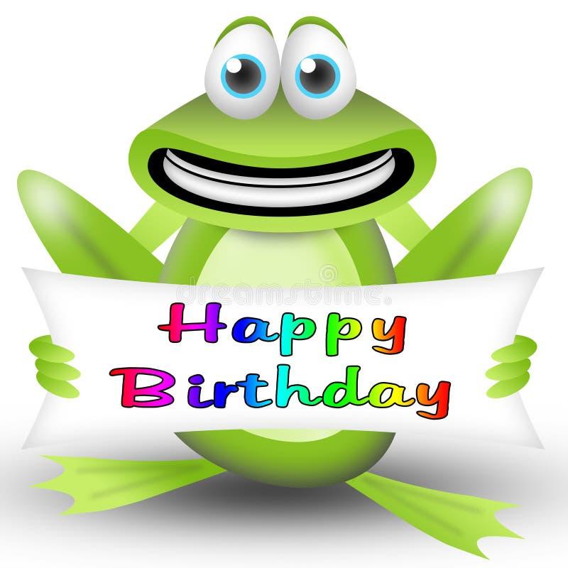 Frog happy birthday royalty free stock image