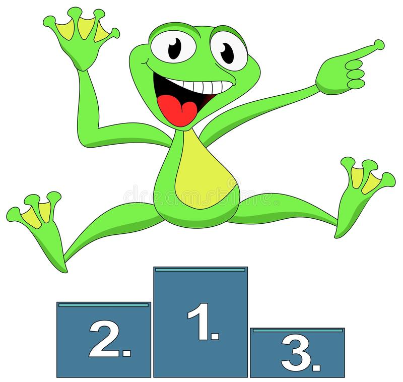 Frog happy winner royalty free stock photos