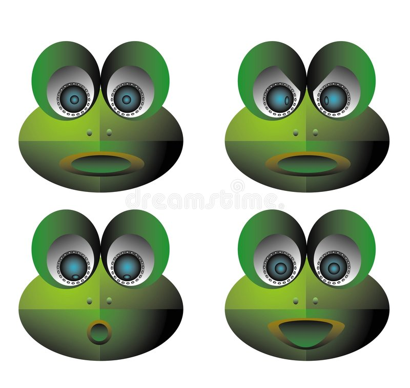 Frog icon stock illustration