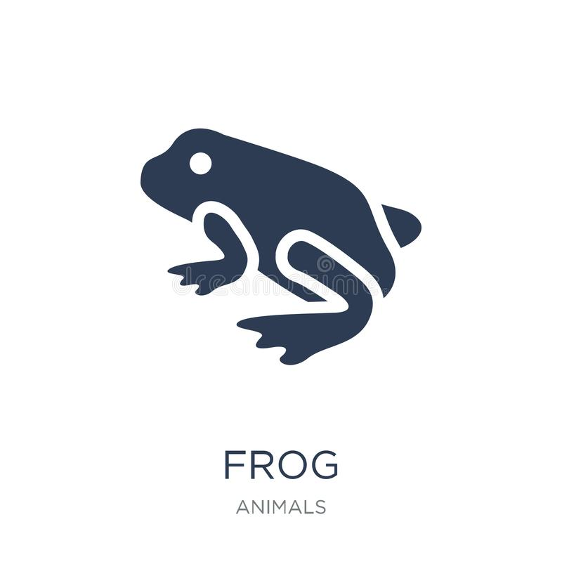 Frog icon. Trendy flat vector Frog icon on white background from. Animals collection, vector illustration can be use for web and mobile, eps10 stock illustration