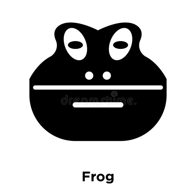 Frog icon vector isolated on white background, logo concept of F royalty free illustration