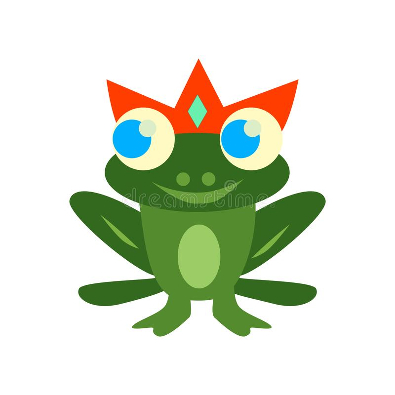 Frog icon vector isolated on white background, Frog sign , color royalty free illustration