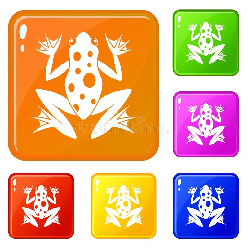 Frog icons set vector color royalty free illustration