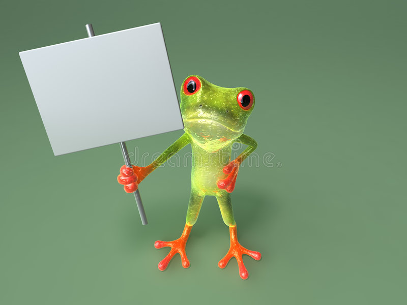 Download Frog : insert your text stock illustration. Image of environment - 3170349