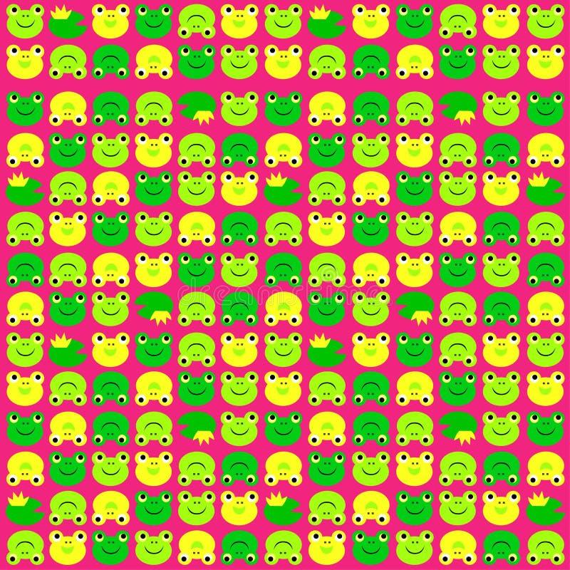 Frog pattern vector illustration