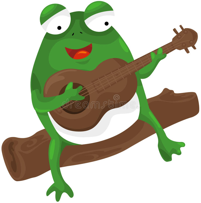 Download Frog Playing A Guitar Royalty Free Stock Photos - Image: 22093548