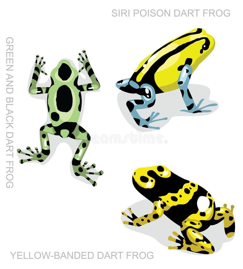 Frog Poison Dart Frog Frog Set Cartoon Vector Illustration 2. Animal Character EPS10 File Format vector illustration