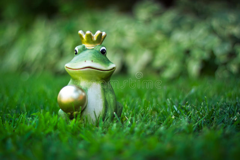 Frog Prince stock photography