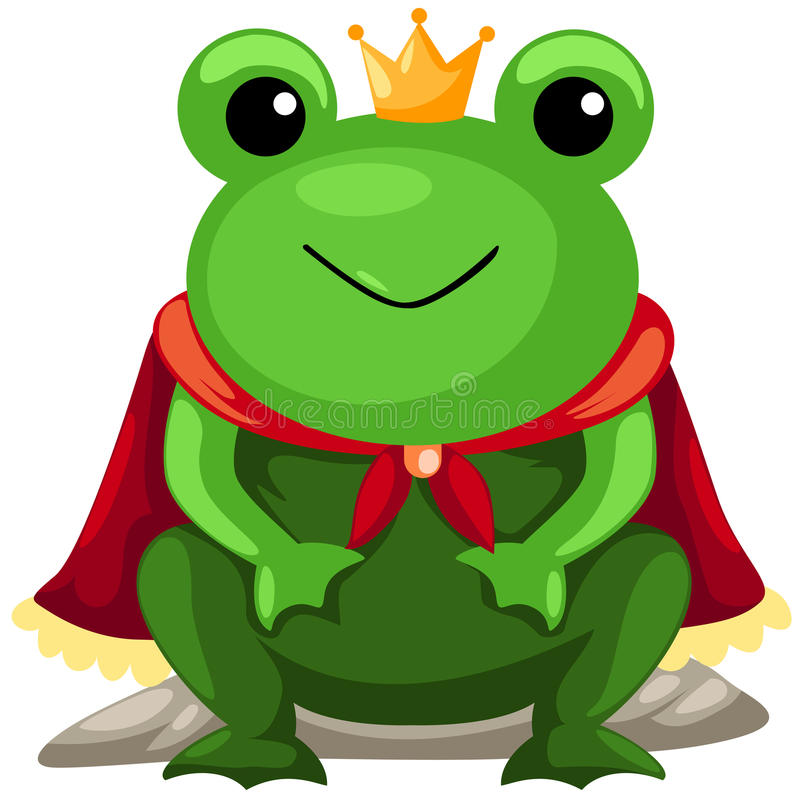 Download Frog prince stock vector. Image of green, king, grass - 16549975