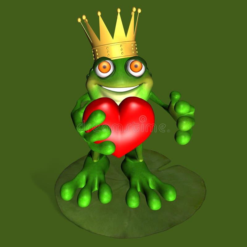 Frog Prince 3 royalty free illustration