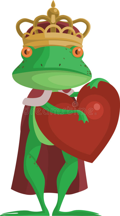 Download The Frog Prince With An Heart Stock Illustration - Image: 25847810