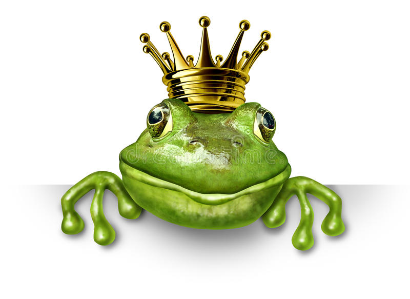 Download Frog Prince With Small Gold Crown Stock Illustration - Image: 21612744
