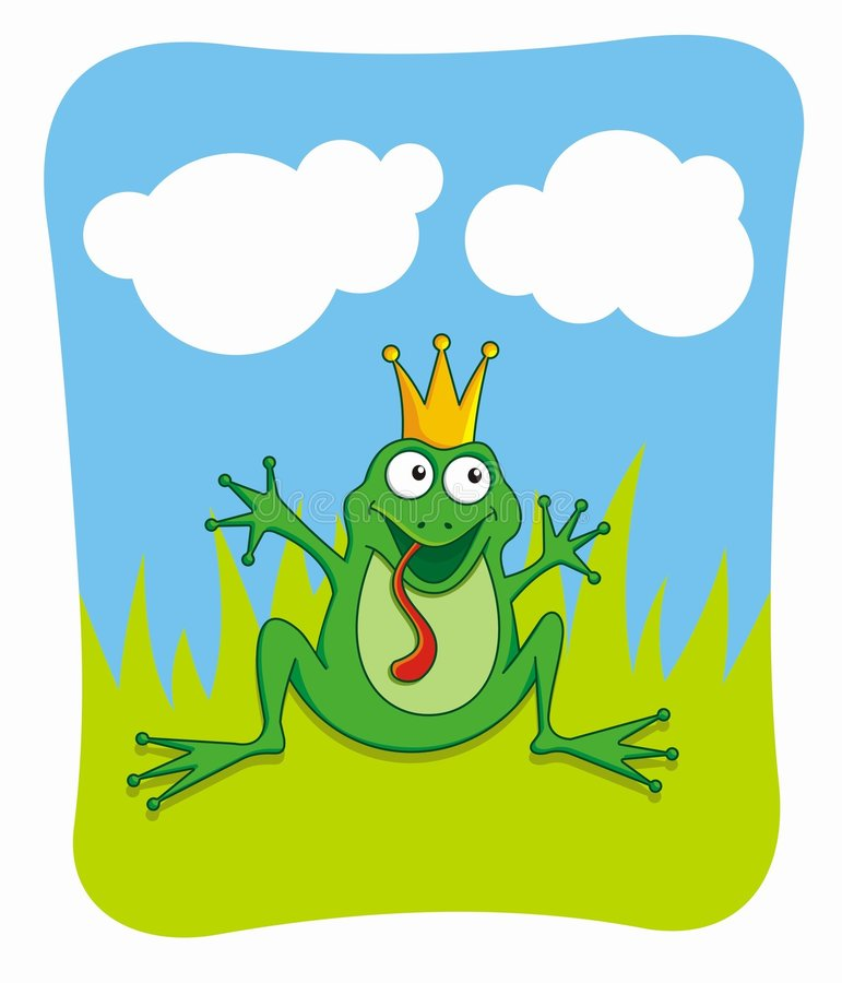 Frog Prince (vector) vector illustration